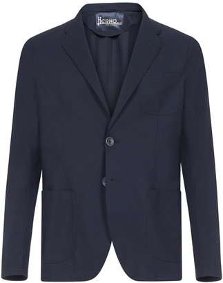Herno Slim Fit Single Breasted Blazer