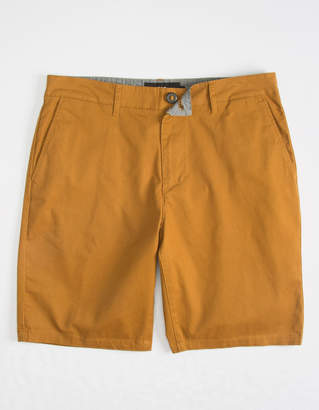 Rsq Mid Length Twill Tobacco Mens Chino Shorts