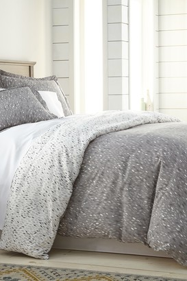 SouthShore Fine Linens Full/Queen Modern Printed Duvet Cover Set - Botanical Forest Grey
