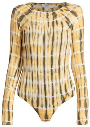 AGOLDE Leila Long-Sleeve Tie-Dye Bodysuit