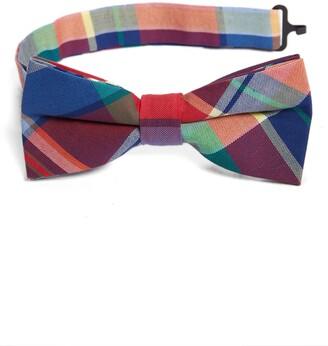 Nordstrom Marshall Plaid Cotton Bow Tie