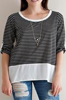 Entro Striped Layer Top