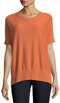 Eileen Fisher Sleek Short-Sleeve Stretch-Knit Top