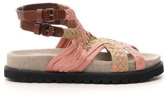 Alberta Ferretti Woven Strappy Sandals