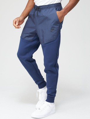 Nike Tech Fleece/Nylon Mix Pants - Navy