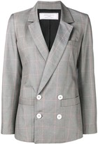 Societe Anonyme checked double breasted blazer
