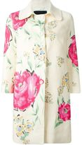 Ermanno Scervino floral print coat