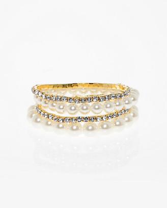 Le Château Gem & Pearl-Like Stretch Bracelet