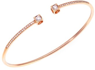 Dinh Van Le Cube Medium Diamond & 18K Rose Gold Bangle Bracelet