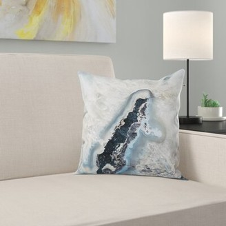 Steve Madden East Urban Home Bree Ice Crystals Indoor/Outdoor Throw Pillow East Urban Home