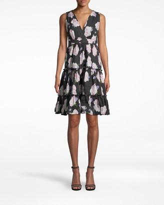 Nicole Miller Rosa Gallica A-line Dress
