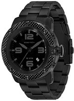 Glam Rock Men's GR33008 SoBe Black Dial Black Ion-Plated Stainless Steel Watch