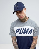 Puma Large Logo Cap In Navy