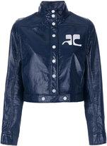 Courreges high neck cropped jacket