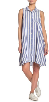 Lumiere Striped Shirt Dress