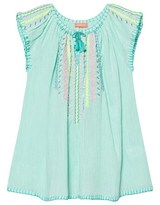 Sunuva Aqua Cheesecloth Dress