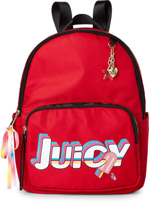 Juicy Couture Lipstick Red Speed Racer Nylon Backpack
