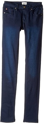 Hudson Collin Skinny Fit Five-Pocket French Terry in Canal Blue (Big Kids)