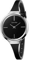 Calvin Klein Women's Swiss Black Silicone Strap Watch 34mm K4U231B1