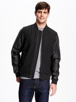 Old Navy Wool-Blend Varsity-Style Jacket for Men