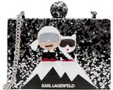 Karl Lagerfeld Women's Holiday Iceberg Minaudiere Bag Black