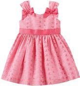 Bonnie Jean Toddler Girl Coral Gingham Plaid Dress