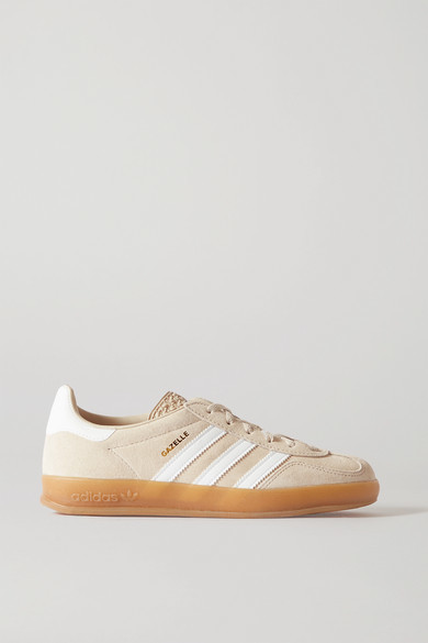 adidas Gazelle Suede And Leather Sneakers - Beige