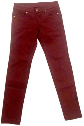 Gucci Burgundy Cotton Trousers
