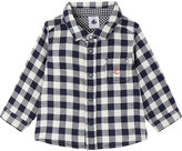 Petit Bateau Baby boy's gingham cotton shirt