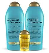 OGX Renewing Argan Oil of Morocco Collection Shampoo 25.4oz + Conditioner 25.4oz + 3.3oz Penetrating Oil
