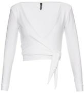 Lisa Marie Fernandez Dree wrap-front jersey top