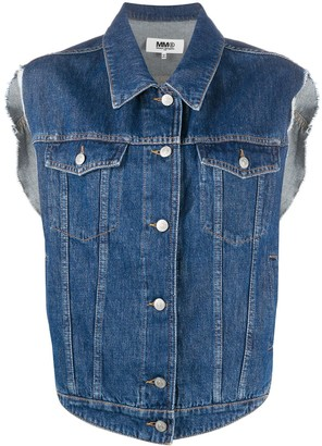 MM6 MAISON MARGIELA Button-Up Denim Gilet