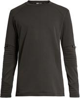 Y-3 Panelled textured-fleece sweatshirt