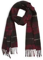 Lanvin Men's Plaid Wool Scarf