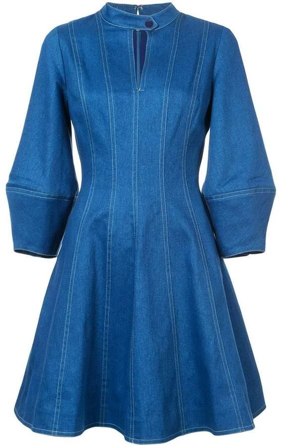 Oscar de la Renta keyhole-detail denim dress