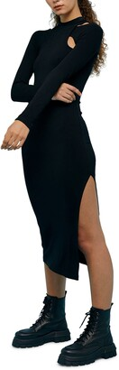 Topshop Long Sleeve Body-Con Dress