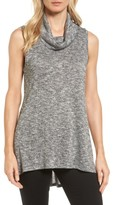 Women's Two By Vince Camuto Metallic Knit Cowl Neck Top
