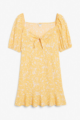 Monki Puff sleeve mini dress