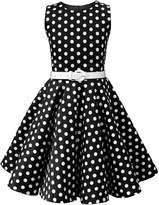 Black Butterfly Clothing Black Butterfly Kids 'Audrey' Vintage Polka Dot 50's Dress (, 3-4 YRS)