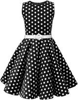 Butterfly Clothing Butterfly Kids 'Audrey' Vintage Polka Dot 50's Dress (, 7-8 YRS)