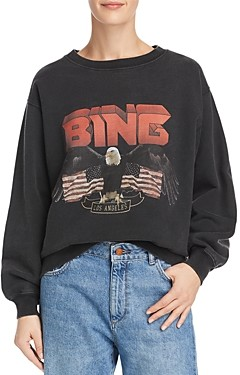 Anine Bing Vintage Eagle-Graphic Sweatshirt