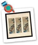 3dRose LLC qs_173917_1 Florene - Asian Art - image of collage duck painting - Quilt Squares