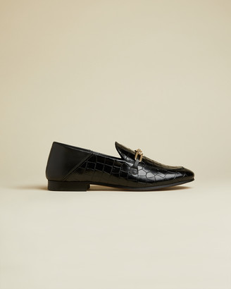 Ted Baker AIDIIL Embossed leather croc effect loafers