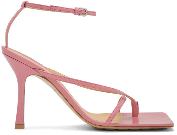 Bottega Veneta Pink Stretch Sandals