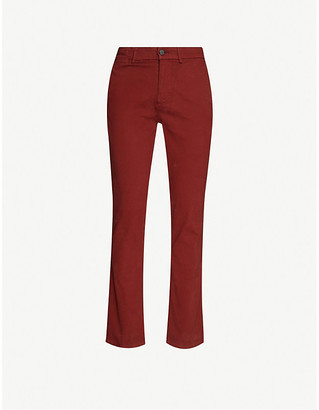 7 For All Mankind Slimmy Luxe straight cotton-blend trousers