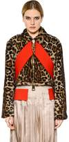 Givenchy Leopard Printed Marmot Fur Jacket