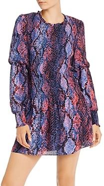 Parker Lilly Smocked Snakeskin Print Mini Dress - 100% Exclusive