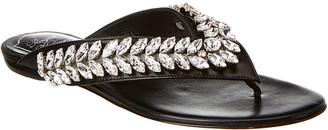 Roger Vivier Vtype Jewel Leather Sandal