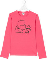 Karl Lagerfeld and Choupette top - kids - Cotton/Spandex/Elastane - 14 yrs