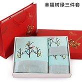 ZEM-PXD Towel Gift Box bath towel set three sets of fashion Pro soft skin